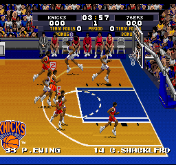 Tecmo Super NBA Basketball (Europe) In game screenshot