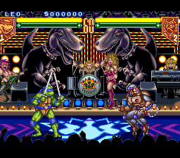 Teenage Mutant Ninja Turtles - Tournament Fighters (USA) (Beta) In game screenshot