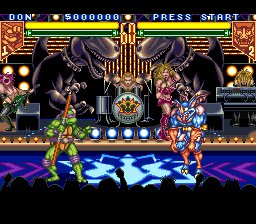 Teenage Mutant Ninja Turtles - Tournament Fighters (USA) In game screenshot