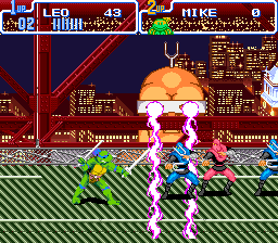 Teenage Mutant Ninja Turtles - Turtles in Time (Japan) In game screenshot
