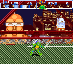 Teenage Mutant Ninja Turtles IV - Turtles in Time (USA) (Beta) In game screenshot