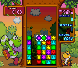 Tetris Attack (Europe) (En,Ja) In game screenshot