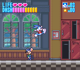 Tiny Toon Adventures - Buster Busts Loose! (Spain) In game screenshot