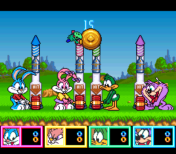 Tiny Toon Adventures - Wacky Sports Challenge (USA) In game screenshot