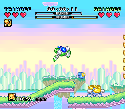 TwinBee - Rainbow Bell Adventure (Japan) In game screenshot