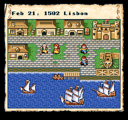 Uncharted Waters (USA) In game screenshot