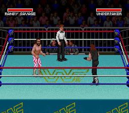 WWF Super WrestleMania (Japan) In game screenshot