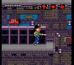 Wayne's World (USA) In game screenshot