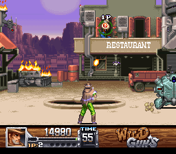 Wild Guns (Europe) In game screenshot
