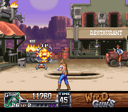 Wild Guns (Japan) In game screenshot