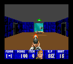 Wolfenstein 3D (Europe) In game screenshot