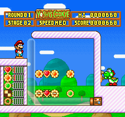 Yoshi's Cookie (Europe) In game screenshot