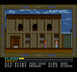 Ys III - Wanderers from Ys (USA) In game screenshot
