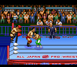 Zen-Nihon Pro Wrestling' - Sekai Saikyou Tag (Japan) In game screenshot