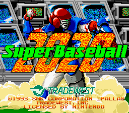 2020 Super Baseball (USA) Title Screen