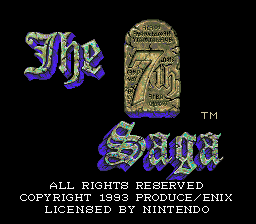 7th Saga, The (USA) Title Screen