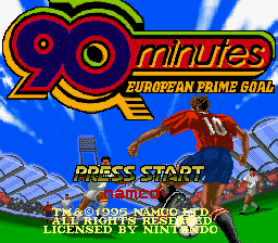 90 Minutes - European Prime Goal (Europe) Title Screen