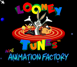 ACME Animation Factory (USA) Title Screen