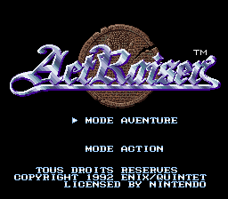 ActRaiser (France) Title Screen
