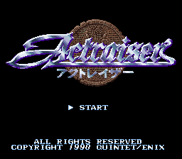 ActRaiser (Japan) Title Screen