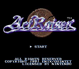 ActRaiser (USA) Title Screen