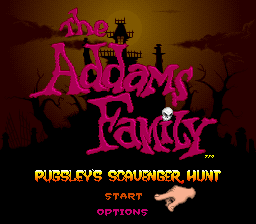 Addams Family, The - Pugsley's Scavenger Hunt (Europe) Title Screen