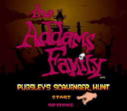 Addams Family, The - Pugsley's Scavenger Hunt (USA) (Beta) Title Screen