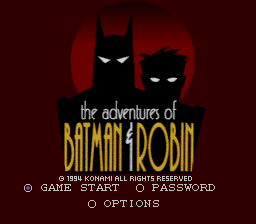 Adventures of Batman & Robin, The (Europe) Title Screen