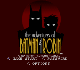 Adventures of Batman & Robin, The (USA) Title Screen