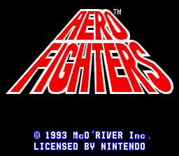 Aero Fighters (USA) Title Screen