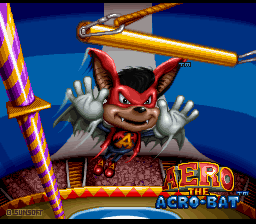 Aero the Acro-Bat (Europe) Title Screen