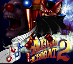 Aero the Acro-Bat 2 (USA) Title Screen