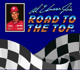 Al Unser Jr.'s Road to the Top (Europe) Title Screen