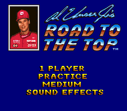 Al Unser Jr.'s Road to the Top (USA) Title Screen