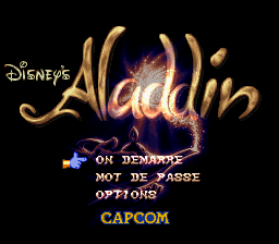 Aladdin (France) Title Screen