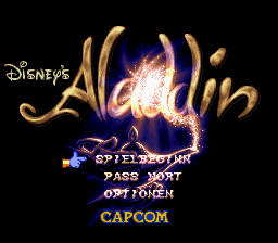 Aladdin (Germany) Title Screen