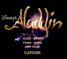 Aladdin (Japan) Title Screen