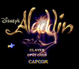Aladdin (Spain) Title Screen