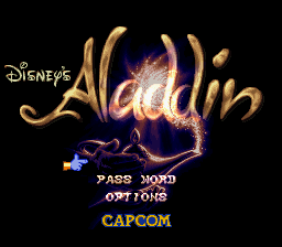 Aladdin (USA) (Beta) Title Screen