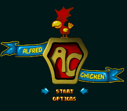 Alfred Chicken (Europe) Title Screen