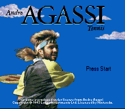 Andre Agassi Tennis (USA) Title Screen