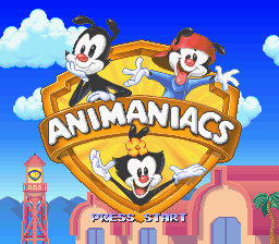Animaniacs (Europe) Title Screen