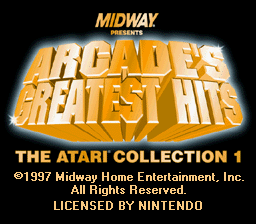 Arcade's Greatest Hits - The Atari Collection 1 (USA) Title Screen