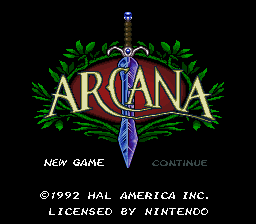Arcana (USA) Title Screen