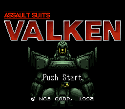 Assault Suits Valken (Japan) Title Screen