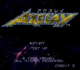 Axelay (Japan) Title Screen