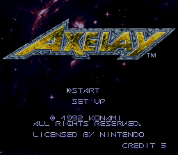 Axelay (USA) (Sample) Title Screen
