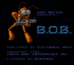 B.O.B. (Europe) Title Screen