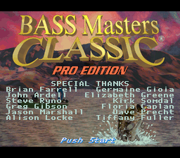 BASS Masters Classic - Pro Edition (Europe) Title Screen