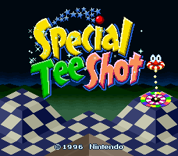 BS Special Tee Shot (Japan) Title Screen
